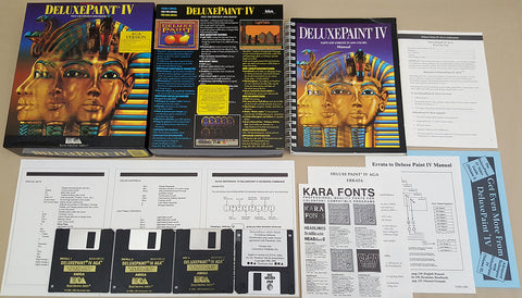 Deluxe Paint IV AGA v4.61 Box ©1993 EA Electronic Arts for Commodore Amiga