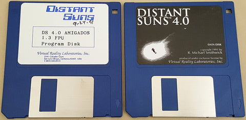 Distant Suns v4.0d - 1991 Virtual Reality Laboratories for Commodore Amiga