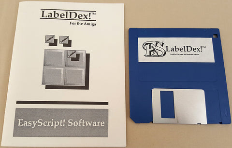 LabelDex! v1.5 - 1990 EasyScript! Software for Commodore Amiga