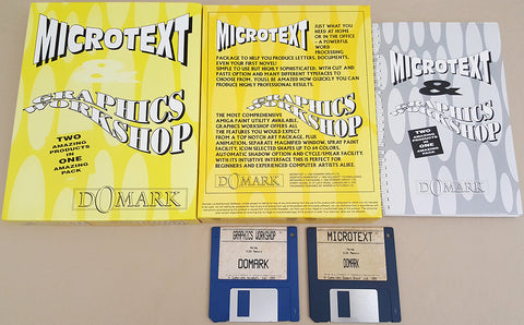 MicroText Graphics Workshop v1.01 - 1992 Domark Group HoloSoft Inc for Commodore Amiga