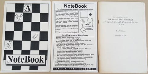 NoteBook Manual Only - 1991 Black Belt Systems for Commodore Amiga