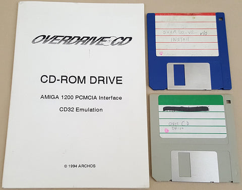 OverDrive CD Manual & Software - 1994 Archos for Commodore Amiga