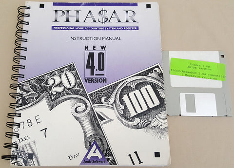 PHA$AR v4.08 Accounting - 1989 Antic Software for Commodore Amiga