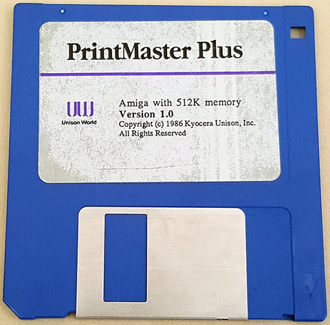 PrintMaster Plus v1.0 Disks ONLY - 1985-89 Unison World for Commodore Amiga