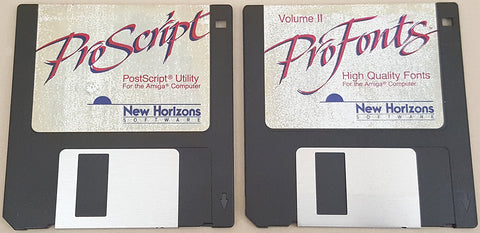 ProFonts Vol.II & ProScript for ProWrite - 1988 New Horizons Software for Commodore Amiga