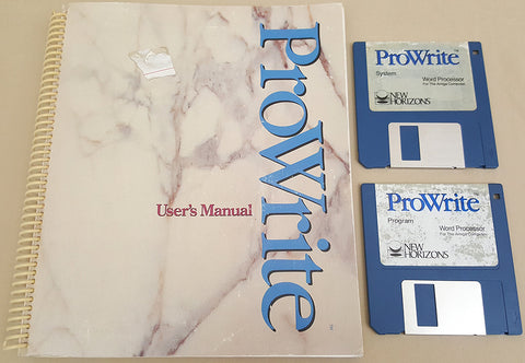 ProWrite v3.0.1 Word Processor - 1990 New Horizons Software for Commodore Amiga