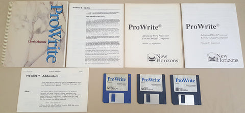 ProWrite v3.3.1 Word Processor - 1992 New Horizons Software for Commodore Amiga