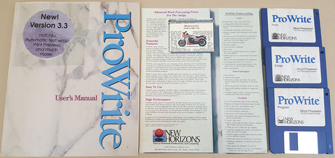 ProWrite v3.3.2 Word Processor - 1993 New Horizons Software for Commodore Amiga