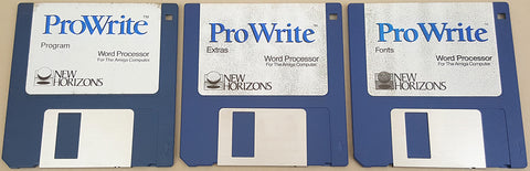 ProWrite v3.3.1 Word Processor Disks ONLY - 1992 New Horizons Software for Commodore Amiga