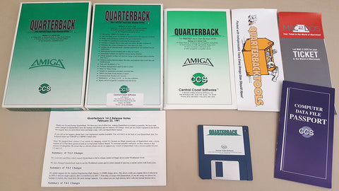 Quarterback v4.3 Backup Utility - 1991 CSS Central Coast Software for Commodore Amiga