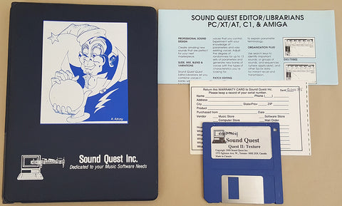 Sound Quest The Quest 2: Texture Sequencer v1.0 - 1989 Sound Quest Inc for Commodore Amiga
