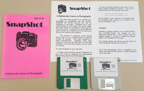 SnapShot v1.0 Course in Photography - 1994 Jeff Wahaus for Commodore Amiga