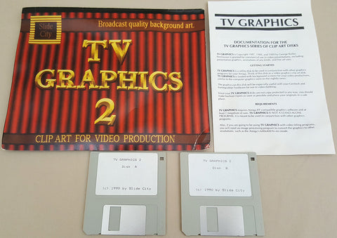 TV Graphics 2 - Backgrounds & Borders - 1990 Slide City for Commodore Amiga