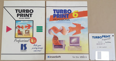 Turbo Print Professional Manuals & PreRelease v1.1 - 1990 IrseeSoft for Commodore Amiga