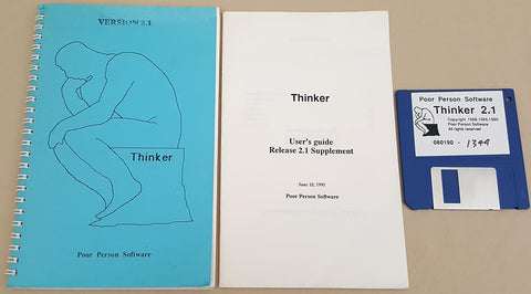 Thinker v2.1 - 1990 Poor Person Software for Commodore Amiga