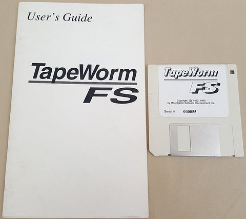 TapeWorm FS v1.0 Tape FileSystem - 1993 Moonlighter Software for Commodore Amiga