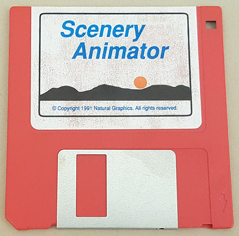 Scenery Animator v1.0 Disk ONLY - 1991 Natural Graphics for Commodore Amiga