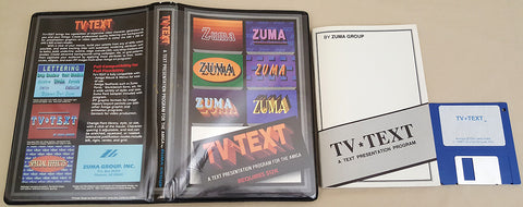 TV TEXT v1.0 - 1987 Zuma Group for Commodore Amiga