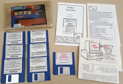 Video Visions & MultiVisions v1.0a - 1990 CV Designs for Commodore Amiga