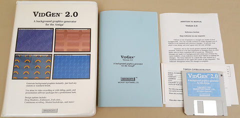 VidGen 2.0 - 1990 Microft Software for Commodore Amiga
