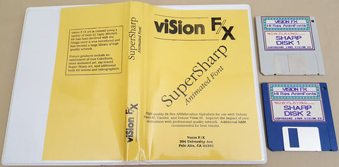 VISION FX HiRes AnimFonts - 1989 Vision FX for Commodore Amiga