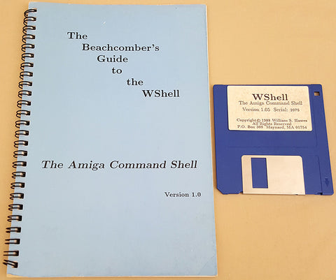 WShell v1.05 - 1988 Williams S. Hawes for Commodore Amiga