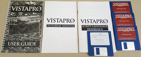 VistaPro v3.05 - 1993 Virtual Reality Laboratories for Commodore Amiga
