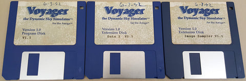 Voyager v1.1a Dynamic Sky Simulator - 1991-92 Carina Software for Commodore Amiga