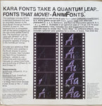 Kara Font ColorFonts Collection - 1987-1991 Kara Computer Graphics for Commodore Amiga