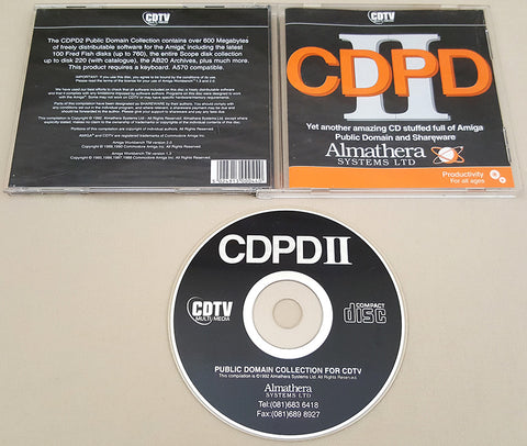 CDPD2 Public Domain Collection CD - 1992 Almathera for Commodore Amiga CDTV