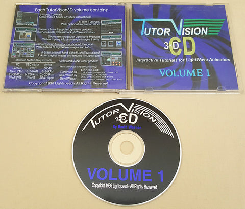 Tutor Vision 3D CD Vol.1 1996 Lightspeed for Commodore Amiga LightWave 3D