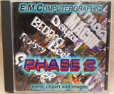 E.M. ComputerGraphic Phase 2 CD 1995 Fonts Clipart & Images for Commodore Amiga