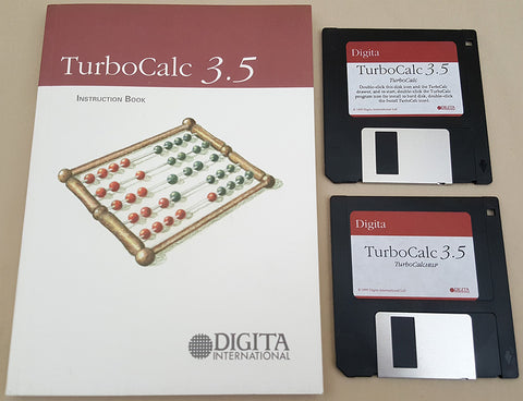 TurboCalc v3.54E - 1995 Digita International Ltd Spreadsheet for Commodore Amiga