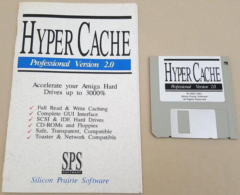 Hyper Cache Professional v2.0 - 1994 Silicon Prairie Software for Commodore Amiga