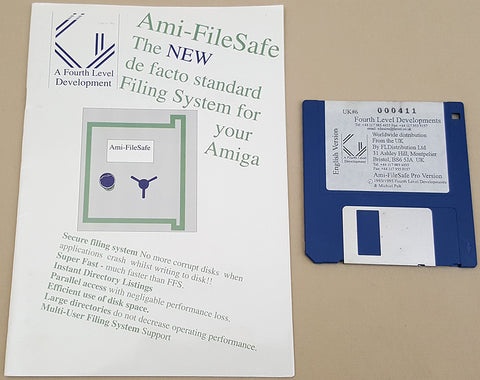 AFS Ami-FileSafe Pro v2.2 - 1993 Fourth Level Developments File System for Commodore Amiga