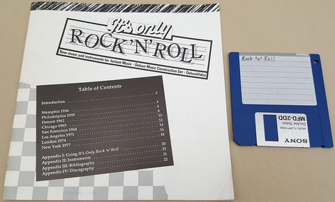 It's Only Rock 'N' Roll Music for Commodore Amiga Instant Music DMCS DeluxeVideo