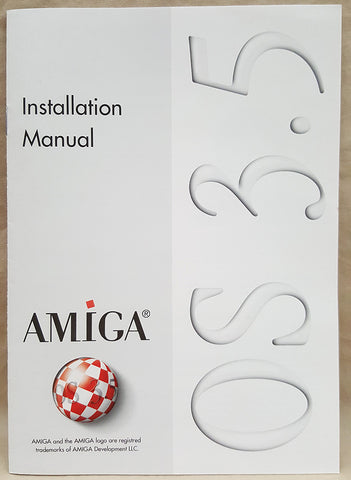 Amiga OS v3.5 English German Installation Manual ONLY for Commodore Amiga