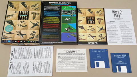 Birds Of Prey - 1991 EA Electronic Arts Game for Commodore Amiga