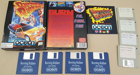 Burning Rubber - 1993 Ocean Game for Commodore Amiga