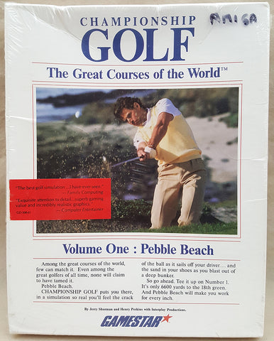 Championship Golf Vol1: Pebble Beach - 1986 Activision Game for Commodore Amiga