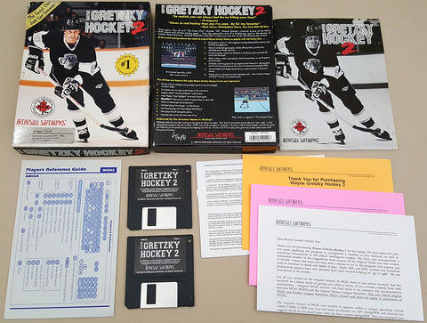 Wayne Gretzky Hockey 2 & League Simulator - 1991 Bethesda Game for Commodore Amiga
