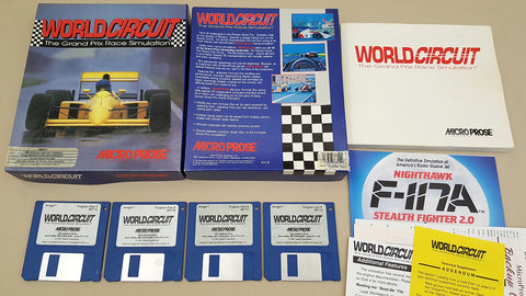 World Circuit Grand Prix Race Sim - 1991 MicroProse Game for Commodore Amiga
