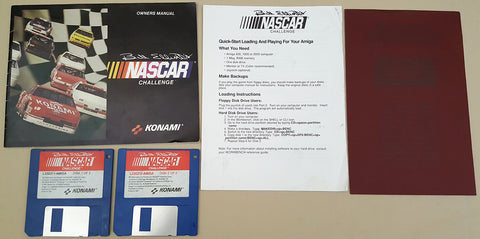 Bill Elliott's NASCAR Challenge - 1991 Konami Game for Commodore Amiga
