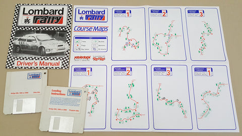 Lombard Rally - 1988 Mandarin Red Rat Game for Commodore Amiga