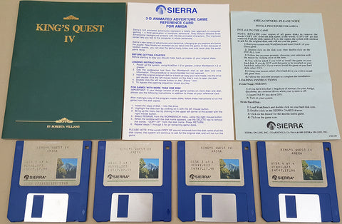 King's Quest IV: The Perils of Rosella - 1990 Sierra Game for Commodore Amiga