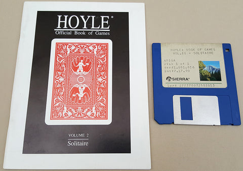 HOYLE Official Book of GAMES Vol.II SOLITAIRE - 1990 Sierra Game for Commodore Amiga