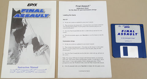 Final Assault - 1988 EPYX Game for Commodore Amiga