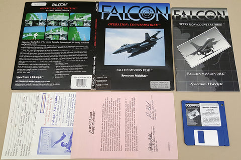 FALCON Operation: CounterStrike - 1989 Spectrum HoloByte Game for Commodore Amiga