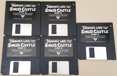 Dragon's Lair Escape From Singe's Castle Sullivan Bluth - 1989 ReadySoft Game for Commodore Amiga