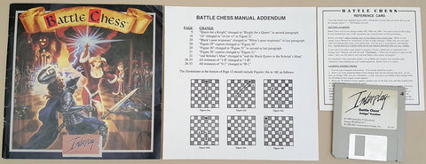 Battle Chess - 1988 Interplay Game for Commodore Amiga
